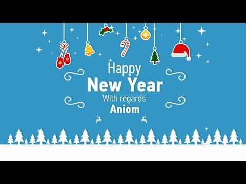 happy new year greeting card after effects template
