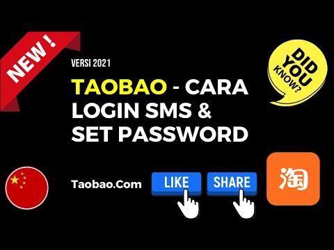 Cara Login Dan Set Password Taobao Di Pc 2021