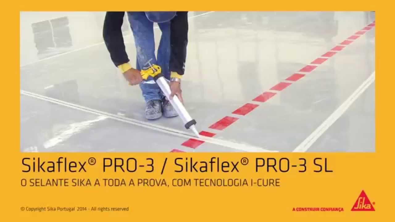 Selar e vedar pavimentos com sikaflex pro 3 sika portugal sa youtube - Sika stop mousse pro ...
