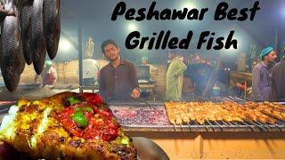 Peshawar Best Grilled & Fried Fish   Musafir Fish Point Peshawar   Pakistani Street Food