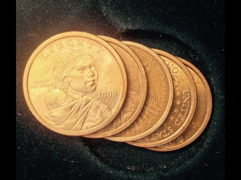 Sacagawea Dollar With Edge Lettering