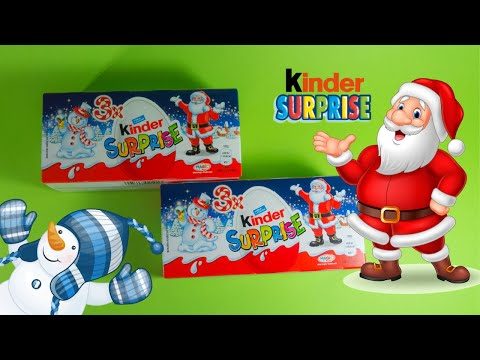 NEW Kinder SURPRISE Christmas TOYS 2019 Unboxing!