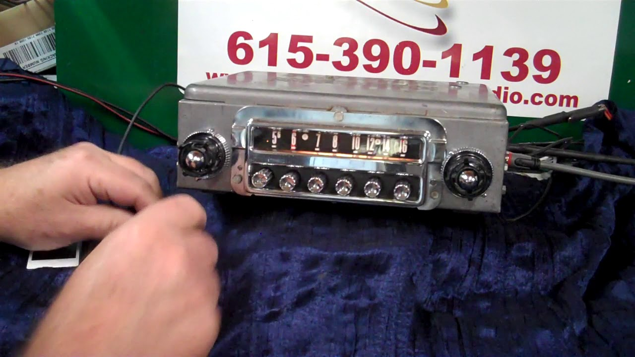 1955 ford thunderbird original am radio [ 1280 x 720 Pixel ]