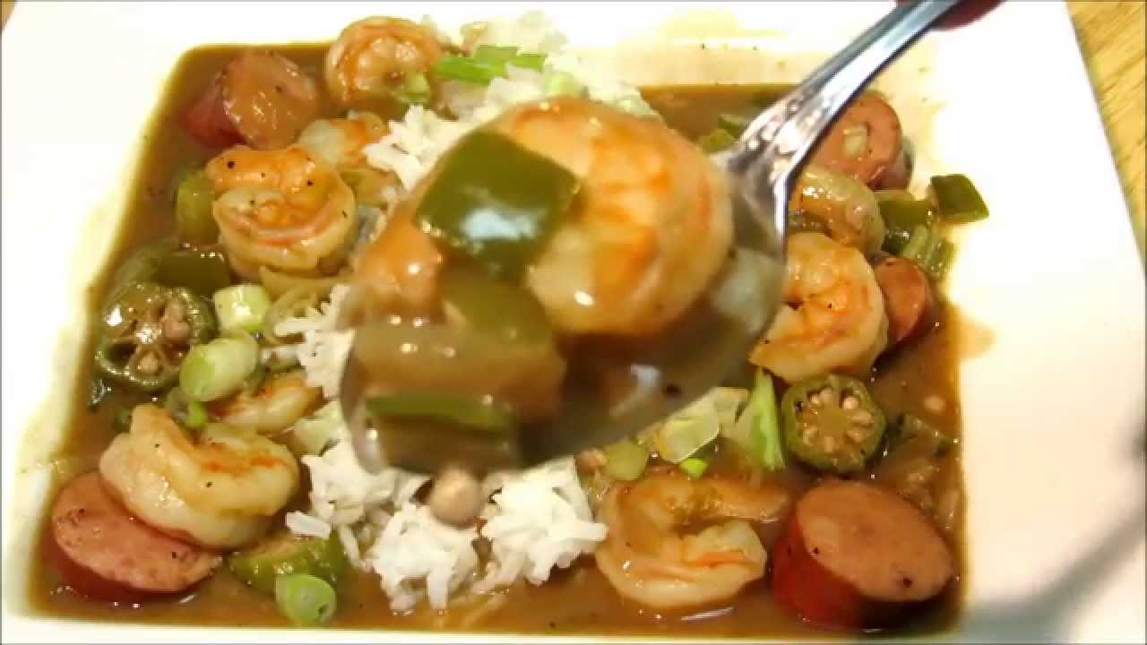 How To Make Gumbo Shrimp And Sausage Gumbo Recipe Youtube