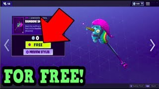 HOW TO GET RAINBOW SMASH PICKAXE FOR FREE! (Fortnite Old Pickaxe)