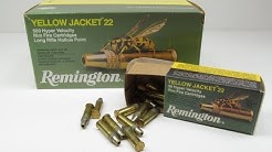 Remington Yellow Jacket 22 LR 40 Yard Clear Gel Test