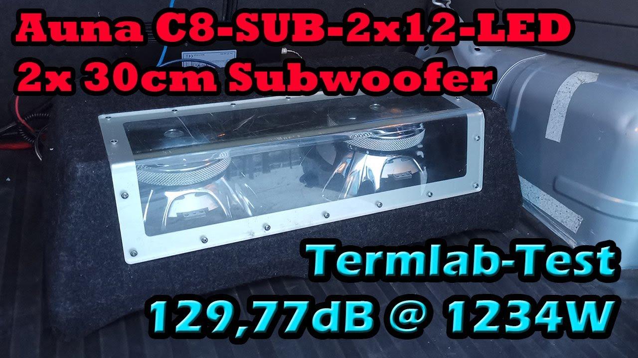 Auna C8-SUB-2x12-LED 2x 30cm Subwoofer Test Auto Termlab DB