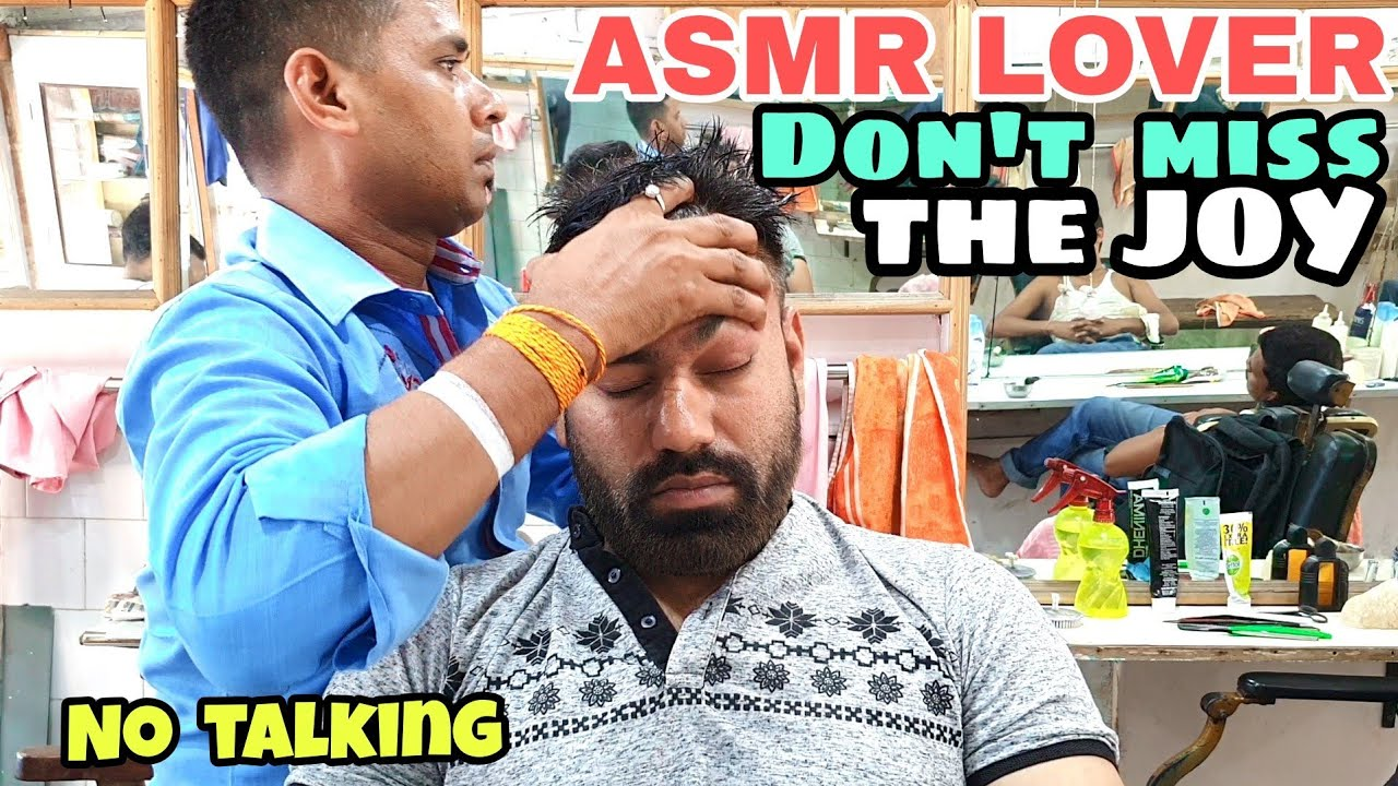 ASMR head massage therapy | No talking | deep sleep | relax | Indian barber