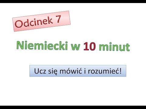 Odcinek 7 - Niemiecki w 10 minut - Nimiecki dla początkujących
