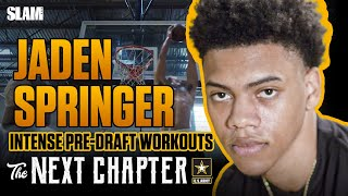 Jaden Springer's NBA Pre-Draft Workout Schedule is INTENSE!! | The Next Chapter Presented by Army