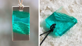 GYPSUM + EPOXY RESIN / PENDANTS MADE OUT OF AN EPOXY RESIN / 7 CHEAP AND EASY DIY JEWELRY IDEAS