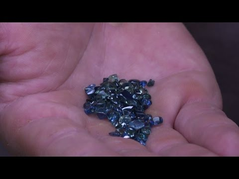 French prospector finds river rich with sapphires