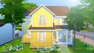 8 SIM STARTER HOME // The Sims 4: Speed Build