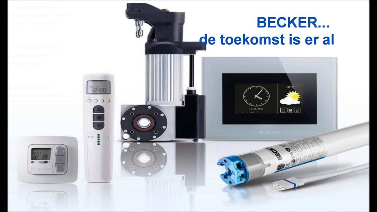 Becker Zonwering Rolluik Motor Bediening Systemen Youtube
