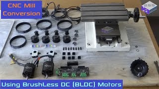 Setting up a Mill ready for CNC Conversion (Brushless DC motors) - Part 1