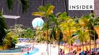 Tropical Oasis Is Inside An Old Airship Hangar