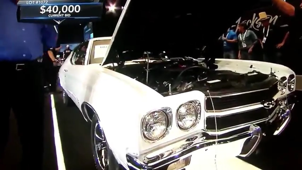 Barrett-Jackson car auction,1970 Chevolet Chevelle LS6,value of ...