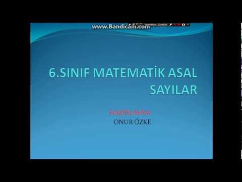 6.Sınıf Matematik Asal Sayılar Konu Anlatımı