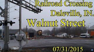 Railroad Crossing: Walnut Street in Daleville, IN., [CSX] Main Tracks 1&2