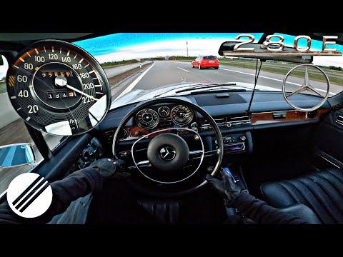 1973 Mercedes-Benz 280 E /8 W114 TOP SPEED DRIVE ON GERMAN AUTOBAHN🏎