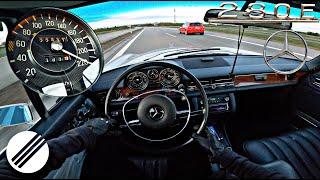 1973 Mercedes-Benz 280 E /8 W114 TOP Speed Drive ON German Autobahn