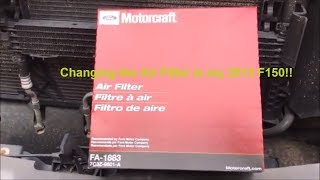 How to change the air filter in a 2011-2014 Ford F-150 - 5.0L