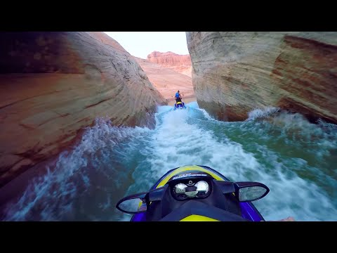 Jet Ski Water Fight Lake Powell (Arizona / Utah) w/ Sea-Doo and GoPro Slot Canyons 2016 Part 1 HD