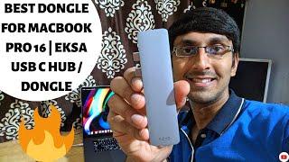 Best Dongle for Macbook Pro 16 EKSA 7-in-1 USB Type C Hub for Macbook Best USB-C Hub for MacBook