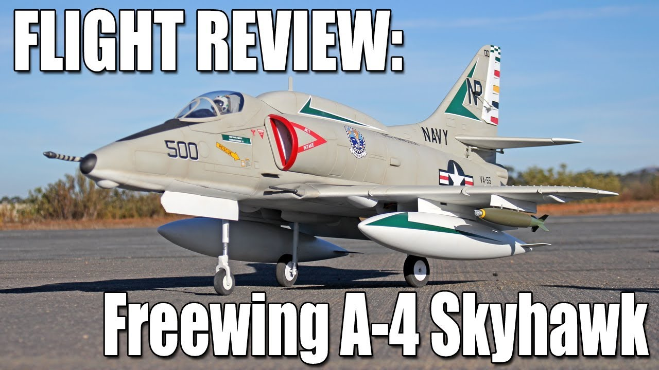 Freewing A-4 Skyhawk 80mm EDF Assembly & Flight Review - The