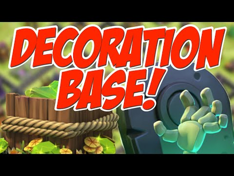 GEM BOX BASE?! Let's Make a Clash of Clans Decoration Base!