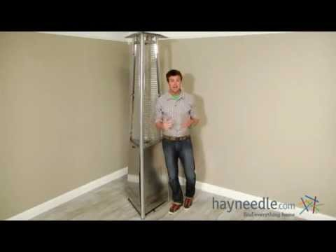 AZ Heaters Commercial Glass Tube Patio Heater - Stainless Steel - Product Review Video