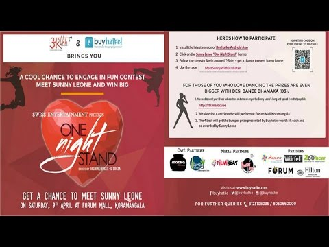 Meet & Greet 'Sunny Leone' Live in forum mall,Bangalore on 9th April - Filmibeat