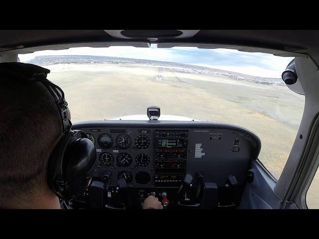 Landing at Meadow Lake Airport