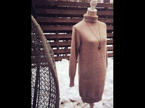 Вязаное платье спицами, в стиле Шамони_ Часть первая. Схема.knit dress
