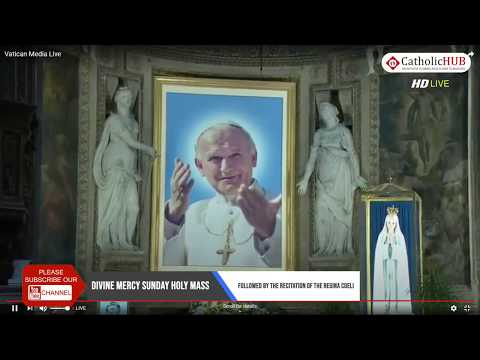 DIVINE MERCY SUNDAY HOLY MASS | POPE FRANCIES | VATICAN | 19-04-2020