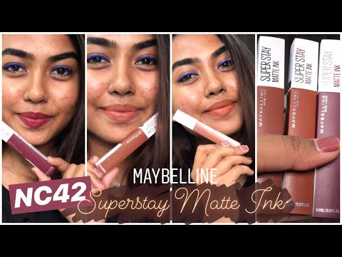 maybelline-superstay-matte-ink-lipsticks-on-dusky-skin-|-swatches-and-review-|-nude-lipsticks