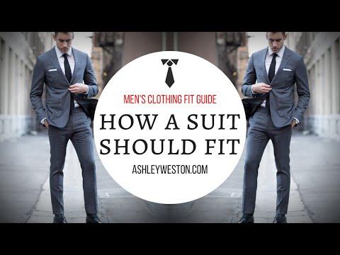How A Suit Should Fit - Men's Clothing Fit Guide
