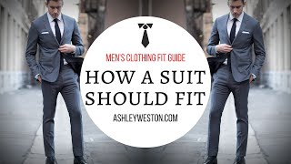 How A Suit Should Fit - Men