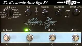 TC Electronic Alter Ego X4 Vintage Delay and Looper Pedal