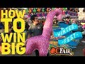 How To Win BIG at Carnival Games | Winter Fest OC Fair