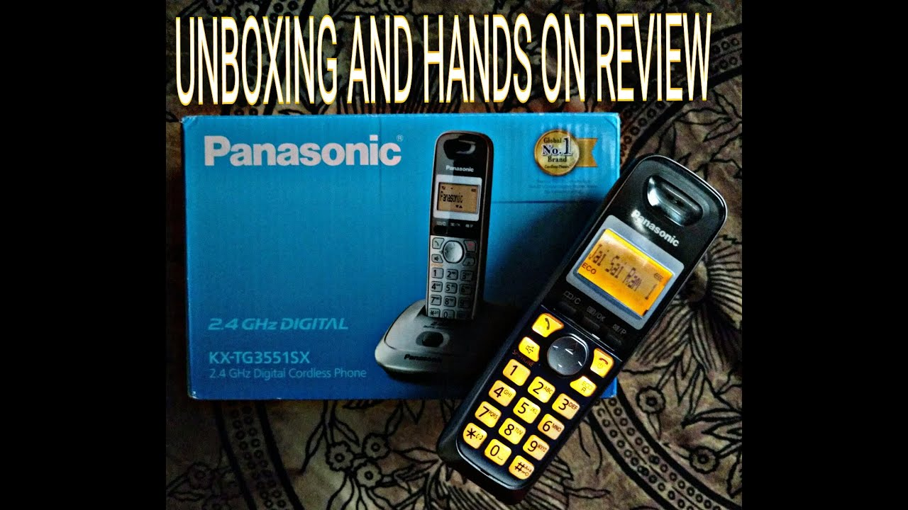 Panasonic KX TG 3551SX 24GHz Digital Cordless Phone Unboxing And Hands On Review Hindi