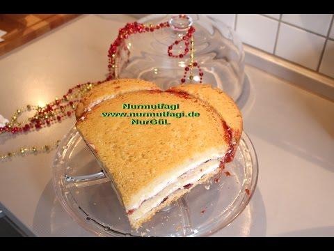 Normal pandispanyadan kalpli pasta yapimi