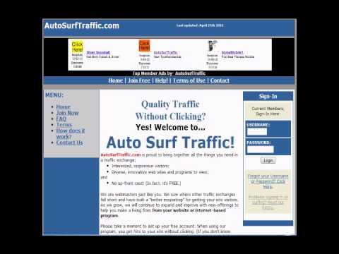 Best Traffic Exchange Site  Auto Surf Traffic
