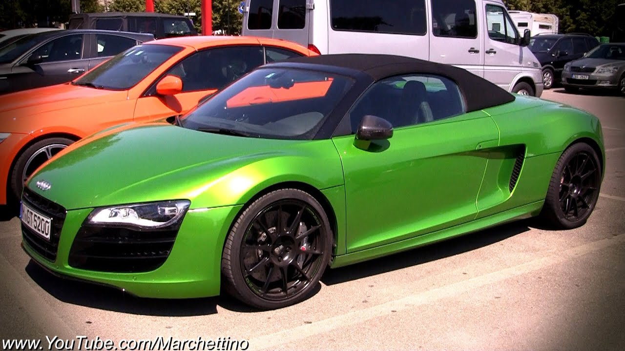 Audi 0 60 >> GREEN Audi R8 V10 Spyder! - YouTube
