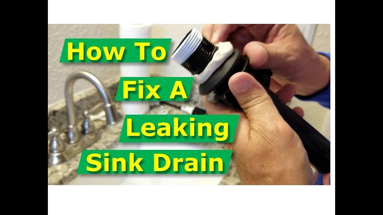 how to fix bathroom sink drain leaks underneath gasket threads solved