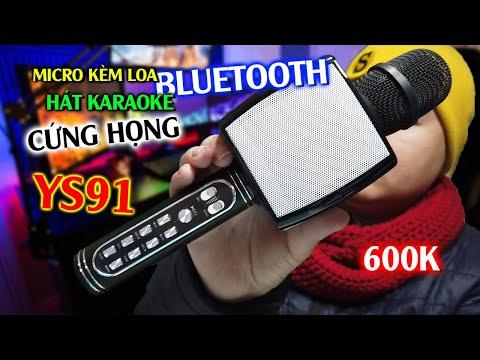 Đập hộp Micro Karaoke Bluetooth YS91 - Micro Kèm Loa Hát Karaoke Bá Cháy Mua Trên Shopee