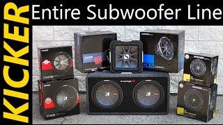 KICKER Subs - Entire Bass Lineup - Comp, CompR, Solobaric, L7, CVX, CompRT subwoofer