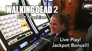 Walking Dead 2 Slot Machine! Jackpot Bonus!!! Free Spins * Max Bet!!!