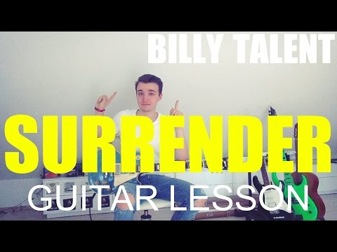 Billy Talent: Surrender: part 1; (GUITAR TUTORIAL/LESSON#8)