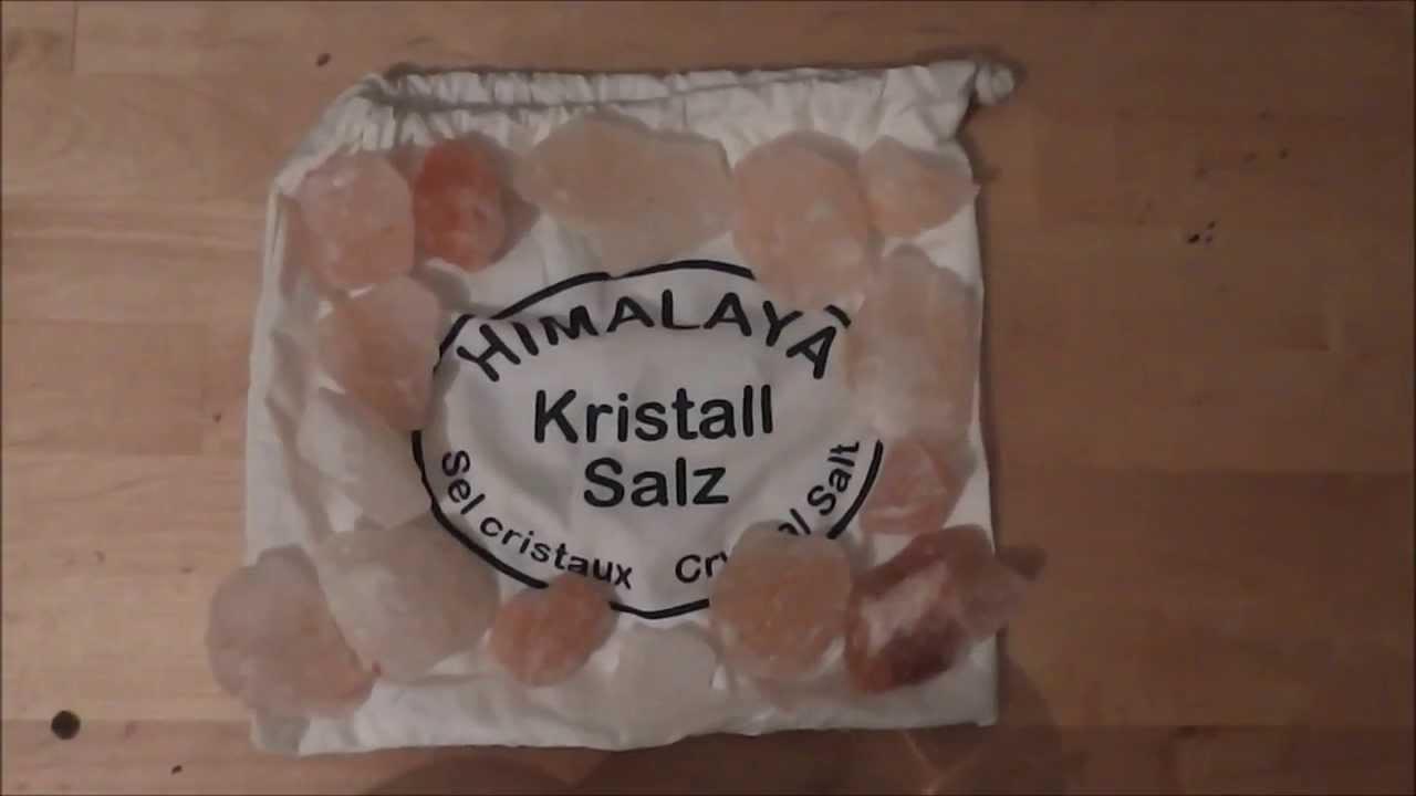 Salzsole aus naturbelassenen Salzbrocken selber herstellen